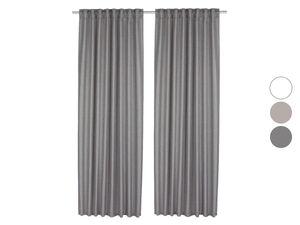 MERADISO® Vorhangschal, 2 Stück, 135 x 254 cm