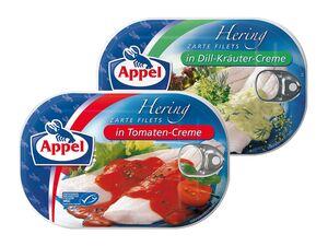 Appel Heringsfilet in Creme