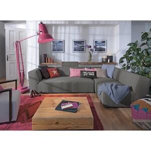home24 Tom Tailor Recamiere Elements Grau 100% Polyester 190x99 cm (BxT) Modern