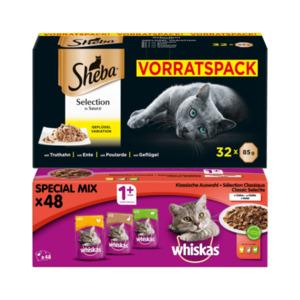 Sheba Selection / Whiskas 1+ Auswahl