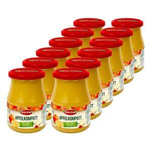 Beste Ernte Apfelkompott mit Stücken 360 g, 12er Pack