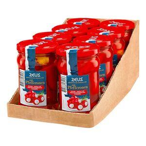 Zeus Rote Pfefferonen mit Frischkäse 270 g, 8er Pack