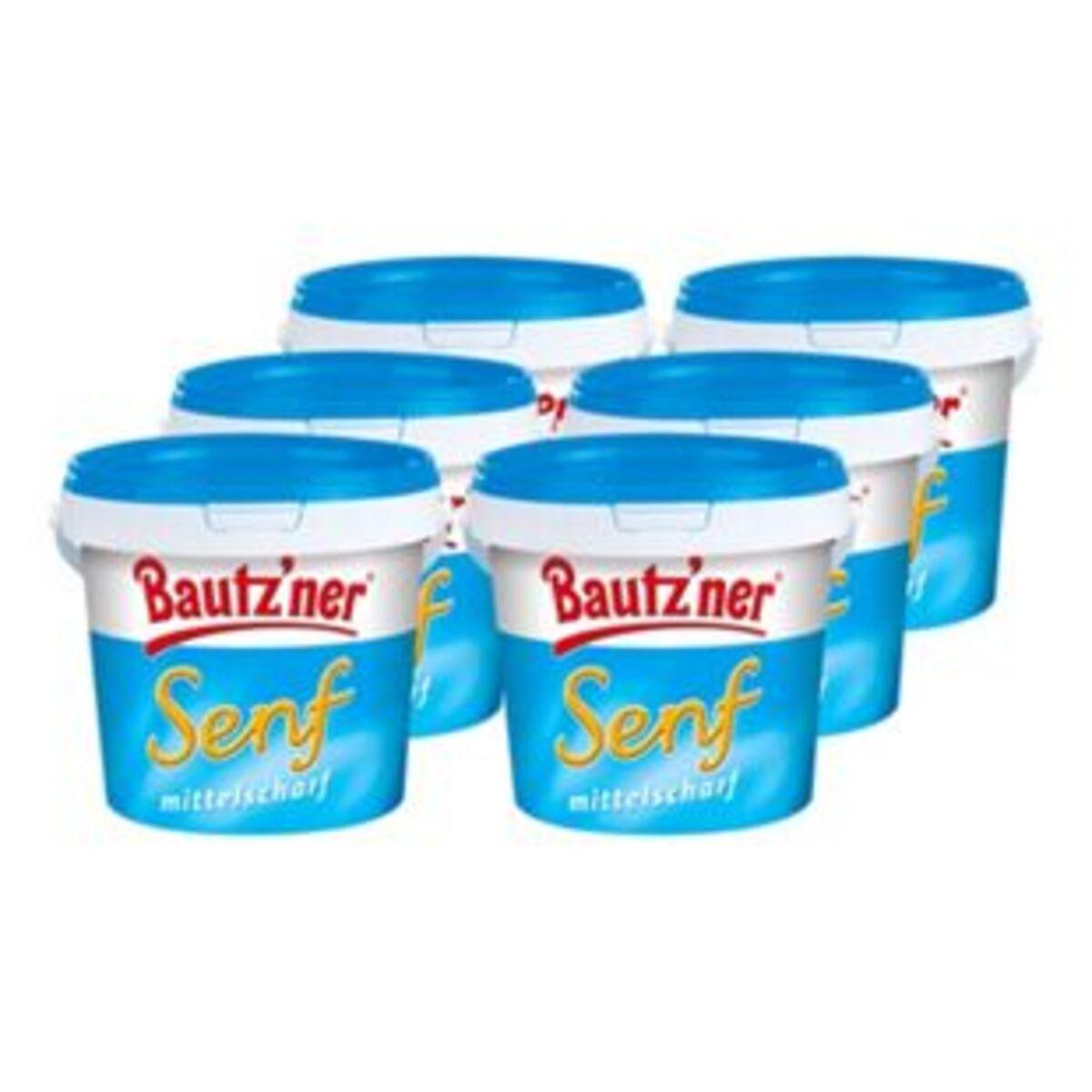 Bild 2 von Bautzner Senf mittelscharf 1 kg, 6er Pack