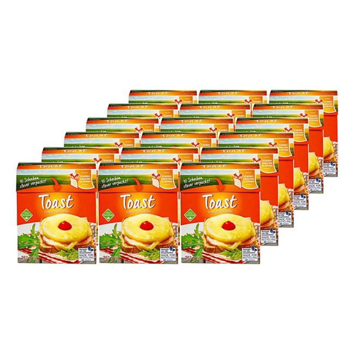 Bild 1 von Toast Schmelzkäse Scheiben 250 g, 18er Pack