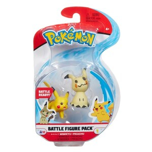 Pokémon Mimikyu & Pikachu Battle Figuren