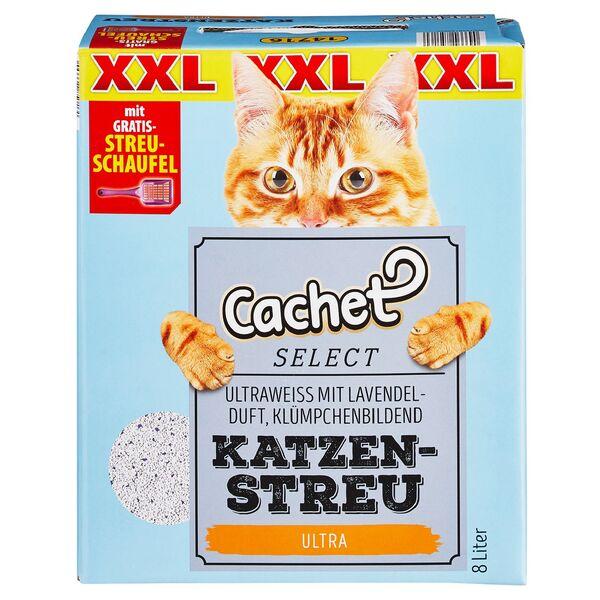 Cachet SELECT XXL-Katzenstreu mit Streuschaufel 8 l