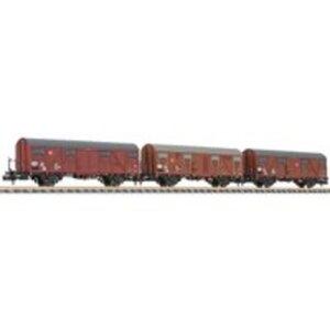 Liliput L260136 N 3er Set Gedeckter Güterwagen