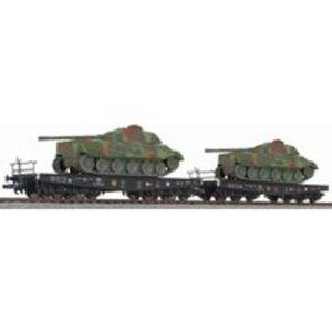 Liliput L230144 H0 2er Schwerlasttransport Panzer