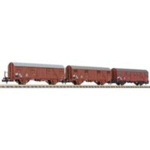 Liliput L260133 N 3er Set Gedeckter Güterwagen