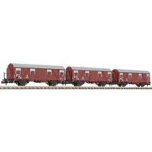Liliput L260130 N 3er Set Gedeckter Güterwagen