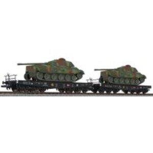 Liliput L230145 H0 2er Schwerlasttransport Panzer