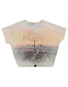 Mädchen T-Shirt mit Tunnelzug am Saum