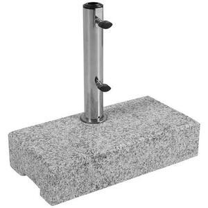 Doppler Sonnenschirmständer granit grau, beige , Balkon-Granitsockel 25Kg , Metall, Stein , 45x10x22 cm , poliert,Naturstein,Granit , Transportgriff, Einsätze für unterschiedliche Rohrstärken , 0