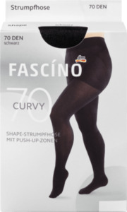FASCÍNO Strumpfhose Curvy 70 den, schwarz, Gr. 52/54