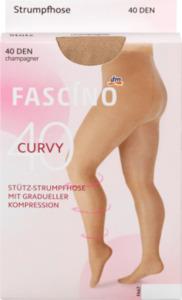 FASCÍNO Stütz-Strumpfhose Curvy 40 den, champagner, Gr. 52/54