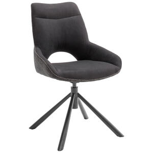 Novel Stuhl flachgewebe anthrazit, schwarz , Huntsville , Metall, Textil , 54x90x64 cm , lackiert,Flachgewebe , 000196024201