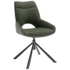 Novel Stuhl flachgewebe schwarz, olivgrün , Huntsville , Metall, Textil , 54x90x64 cm , lackiert,Flachgewebe , 000196024202