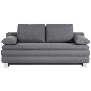 Carryhome Boxspringsofa flachgewebe grau , Genf , Textil , 2-Sitzer , 202x96x105 cm , Flachgewebe , Liegefunktion , 002991002901
