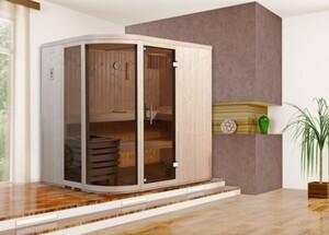 Weka Element-Designsauna Sara 1 Set 1 ,  mit Saunaofen