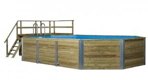 Weka Massivholzpool Barbados Profi-Set ,  850 x 376 x 116 cm, inkl. Sandfilteranlage