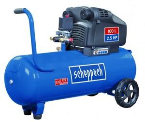 Scheppach Kompressor HC104DC 230 V, 1800 W, 8 bar, 100 l, 2 Zylinder