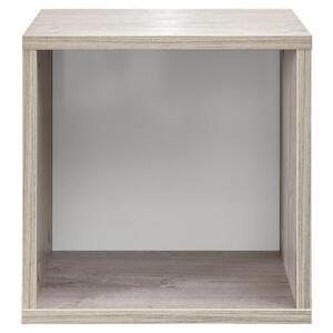 Xora Dekobox , Lasse , Weiß, Eichefarben , 1 Fächer , 30.1x30x21 cm , Nachbildung , 000241000108
