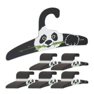 100 x Kinderkleiderbügel Tierbügel Kleiderbügel Kinderbügel Pappkleiderbügel schwarz/weiß