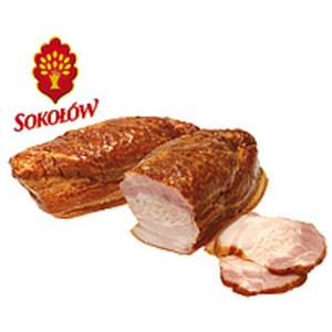 """Schweinebauchspeck """"Boczek"""" heißgeräuchert, gepökelt, mit zu..."""