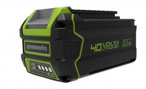 Greenworks 40 V Li-Ion Akku 6 Ah, LED-Ladestandsanzeige, Gartengeräte und Werkzeuge