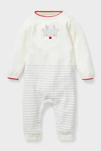 Baby-Weihnachts-Jumpsuit - Bio-Baumwolle - gestreift