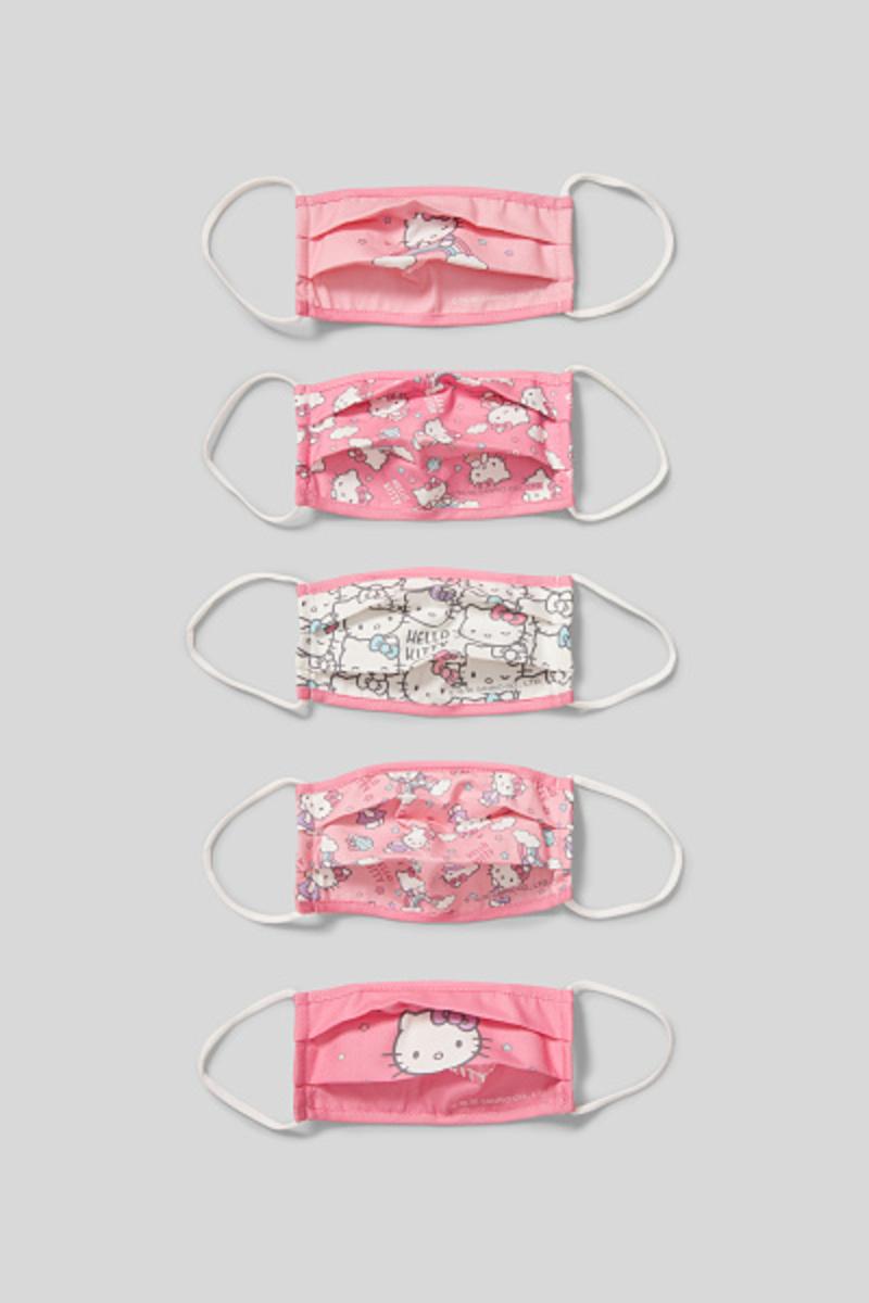 Bild 4 von C&A Hello Kitty-Kinder Mund-und Nasenmaske-5er Pack, Pink, Größe: 1 size