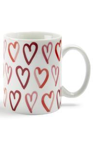 Tasse mit Valentinstags-Herz-Print