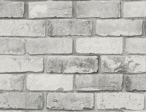 Vinyltapete Flitter Stein grau