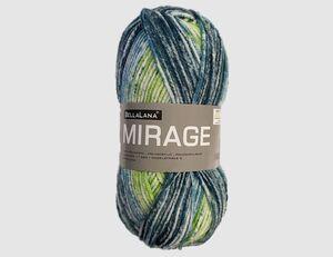 Strickgarn Mirage blau/grün gemustert