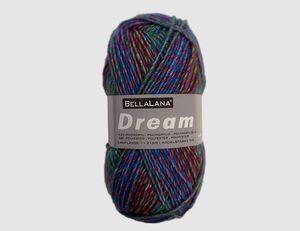 Strickgarn Dream lila gemustert