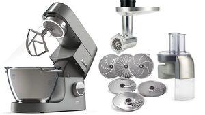 KENWOOD Küchenmaschine Chef Titanium KVC7300S, 1500 W, 4,6 l Schüssel, inkl. Sonderzubehör im Wert von 249,99€ UVP
