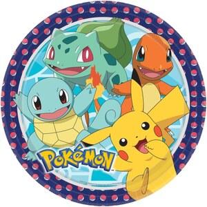 Pokémon Papierteller 8 Stück