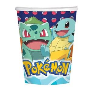 Pokémon Papierbecher 8 Stück 250 ml