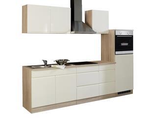Küchenblock in Creme/Eiche inkl. E-Geräte 'Cardiff'