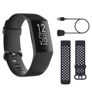 Fitnessarmband Fitbit Charge 4 schwarz Weihnachtsedition