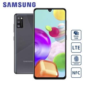Smartphone Galaxy A41 A415F · 3-fach Hauptkamera mit Weitwinkel-, Ultraweitwinkel- und Bokeh-Objektiv (48 MP + 8 MP + 5 MP) · 25-MP-Frontkamera · 4-GB RAM, bis zu 64 GB interner Speicher · microS