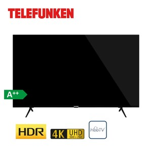 D58U660N1CW (ab März 2021: Energie-Effizienz E (Spektrum A bis G) · 3 x HDMI, 2 x USB, CI+ · integr. Kabel-, Sat- und DVB-T2-Receiver · Maße: H 75,2 x B 129,4 x T 6,6 cm · Energie-Effizienz A++