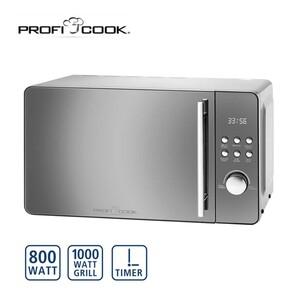 Mikrowelle + Grill PC-MWG 1175 • 5 Mikrowellen-Leistungsstufen • 9 Automatik-Programme • Multifunktions-Display mit Digitaluhr • Schnellstart-Funktion • Drehteller + Grillrost