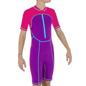 Schwimmanzug Shorty Mädchen violett/pink
