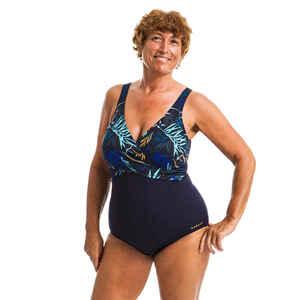 Badeanzug Aquagym Lori Yuka figurformend Damen blau