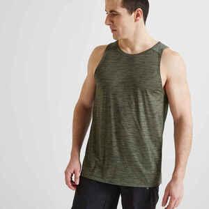 Tank-Shirt FTA 500 Fitness Cardio Herren khaki