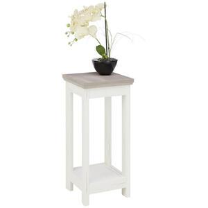 Hom`in Blumensäule , Camron , Grau, Weiß , 30x65x30 cm , Nachbildung , 000003000141