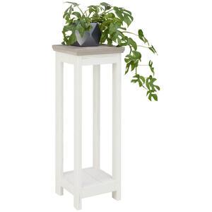 Hom`in Blumensäule , Camron , Grau, Weiß , 30x85x30 cm , Nachbildung , 000003000142