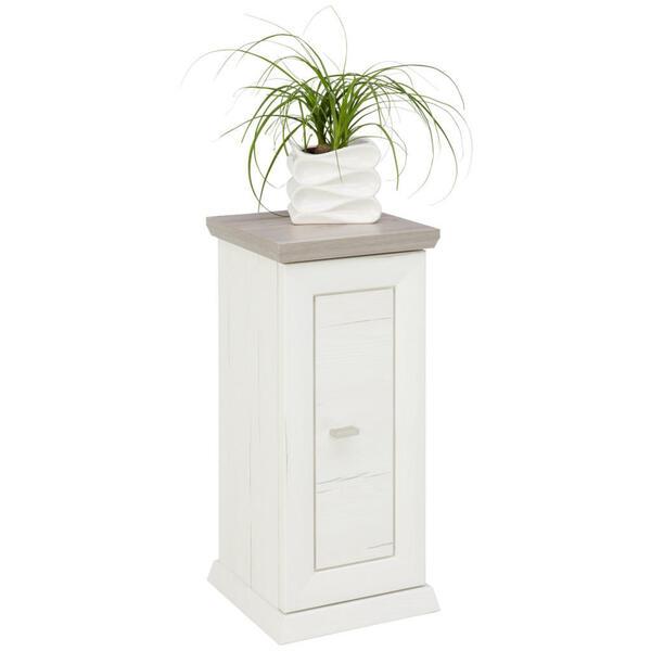 Hom`in Blumensäule , Camron , Grau, Weiß , 30x65x30 cm , Nachbildung , 000003000143