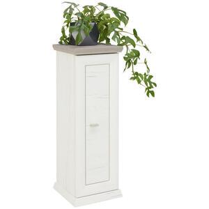 Hom`in Blumensäule , Camron , Grau, Weiß , 30x85x30 cm , Nachbildung , 000003000144